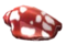 Небольшая спиральная ракушка (красная)
