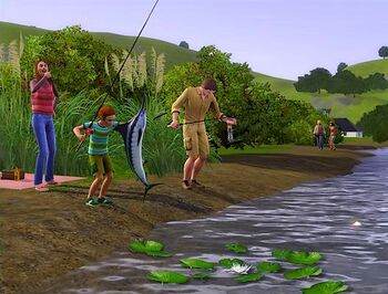 fishing the sims 3 the sims wiki fandom powered by wikia rh sims wikia com Sims 3 PS3 Multiplayer Sims 3 Bedroom Tumblr