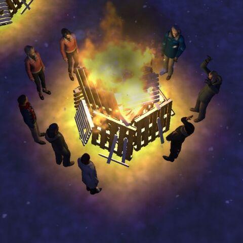 <i>Ninguém me parou. Todos, logo, sentaram-se envolta da fogueira e começaram a conversar.</i>