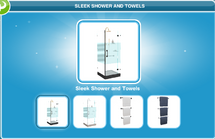 Sleek Shower and Towels