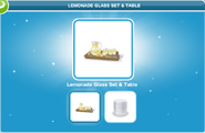 Lemonade Glass Set & Table