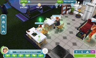Sims FreePlay Preteens Using Study Desks