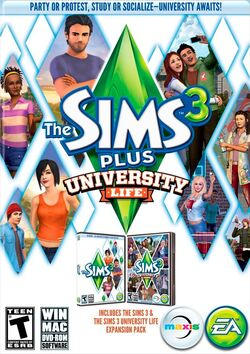 Capa The Sims 3 Plus Vida Universitária