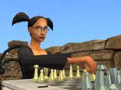 Cassandra jogando xadrez