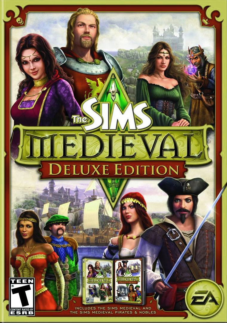 Capa The Sims Medieval Edição Deluxe em Inglês