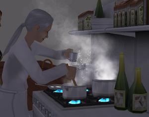 Cozinheira de restaurante
