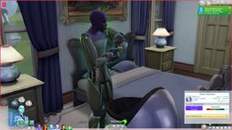 Um alienígena segurando um bebê (TS4)