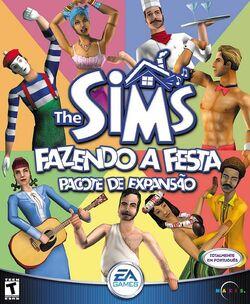 Capa The Sims Fazendo a Festa