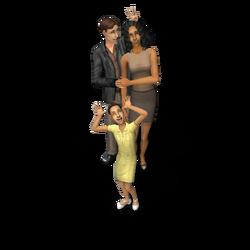 Família Subúrbio The Sims 2