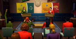 Sims debatendo