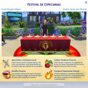 Cartão Festival de Especiarias
