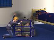 Loki destruindo a casa de bonecas