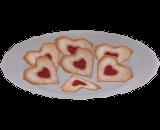 Biscoitos de Coração Paqueradores