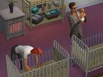 Dina e Nina recém-nascidas