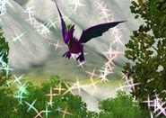 Dragão Roxo Usando Poderes