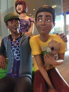 Estátuas Sims EA Lobby 2