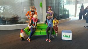 Estátuas Sims EA Lobby 1