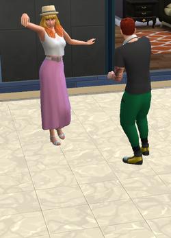 Uma Batalha de Dança na Pista