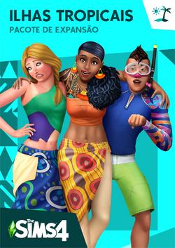 Capa The Sims 4 Ilhas Tropicais