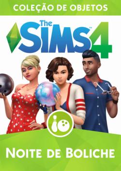 Capa The Sims 4 Noite de Boliche (Primeira Versão)