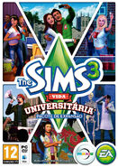 Packshot The Sims 3 Vida Universitária