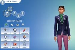 Traços de personalidade menu TS4