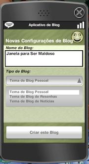 Aplicativo de Blog2