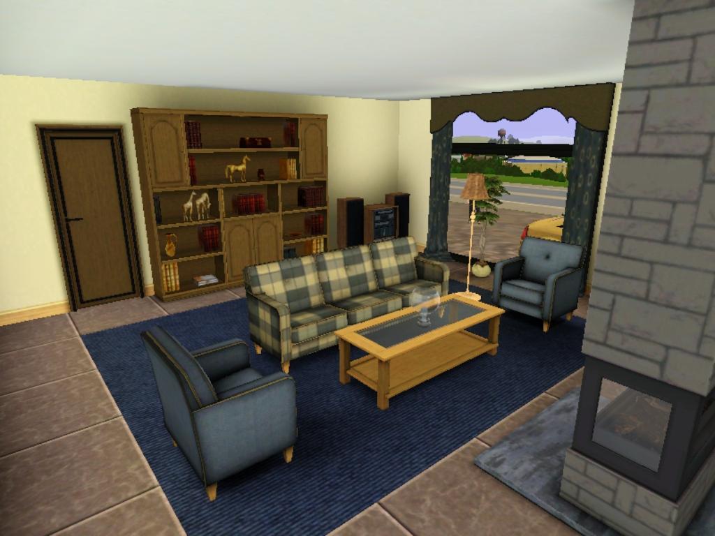 Imagem c mera moderna sala de estar jpg the sims for Casa moderna wiki