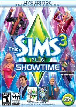 The Sims 3 Plus Showtime Capa