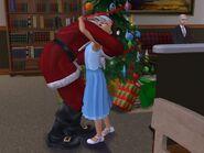 Papai Noel Abraçando Uma Criança