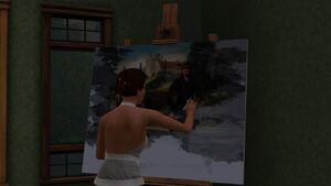 Pintura de um quadro TS3