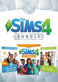 The Sims 4 Bundle Ao Trabalho, Retiro ao Ar Livre, Festa Luxuosa
