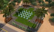 Parque das Palmeiras, exterior