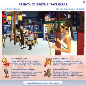 Cartão Festival de Humor e Travessuras