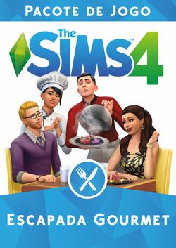 Capa The Sims 4 Escapada Gourmet (Primeira Versão)