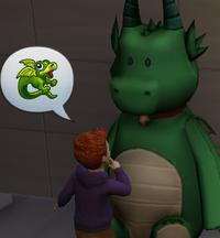 Bebê conversando com Pelúcia