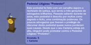 Pedestal Litigioso Protesto! (descrição)