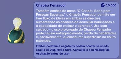 Chapéu Pensador (descrição)