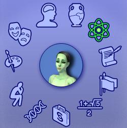 Tabela de seleção de especialização em The Sims 2