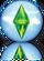 Ícone reflexo The Sims 3 Ambições