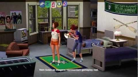 Trailer The Sims 3 Vida Universitária (em português)
