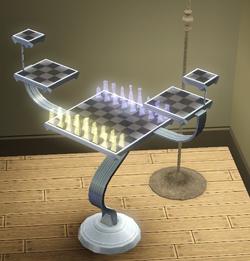 Mesa de Holo-xadrez de Azad da Korben Computação