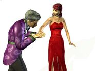 Laura e Vladmir (The Sims Bustin'Out)