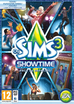 Packshot Os Sims 3 Showtime