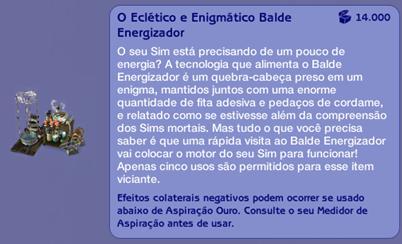 O Eclético e Enigmático Balde Energizador (descrição)