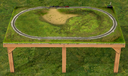 Conjunto de Trem Elétrico Circulando