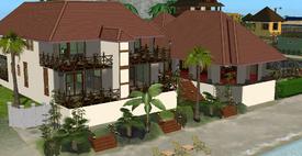 Hotel de Praia Twikii fundos