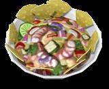 Ceviche com Chips de Batata