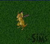 Um dragão dourado