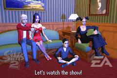 Família Caixão em The Sims 2 (GBA)